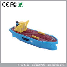 Promotional PVC shaped USB flash drive for tugboat/towboat/ship/yacht/sailer and shipmaster