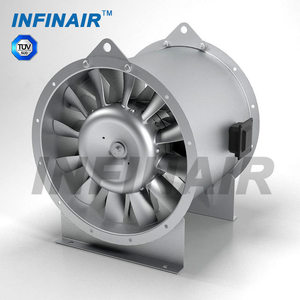 High reliable cast aluminum impeller vane axial fan for duct ventilation