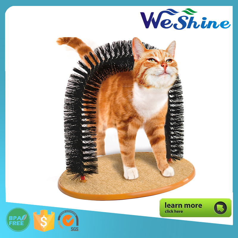 Wholesale - Arch Cat Self Groomer and massager, Cat's Meow Revolve Cat scratcher Toy Christmas gift