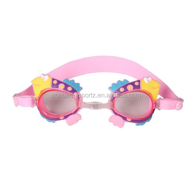 Custom logo silicone strap swimming pool gear best waterproof swim goggles