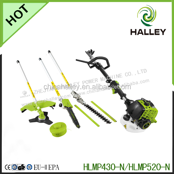 gasoline garden tool 26cc/33cc/43cc/52cc 4 in 1 strimmer multi function cutter