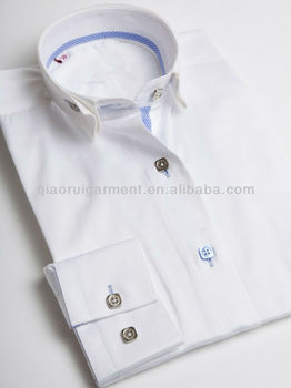 High fashion ladies white ruffled collar casual shirt