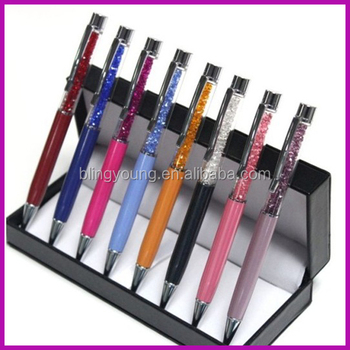 Office and school Promotional bling rhinestone pen with your logo