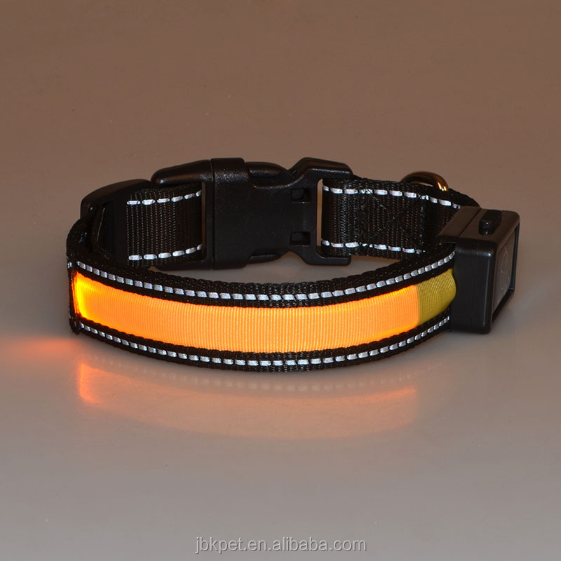 Newest USB rechargeable LED collars for dogs puppies amazon top seller 2017 LED dog cat collars