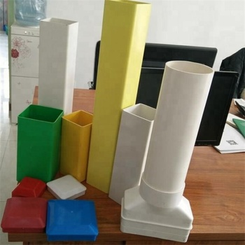 All Color and sizes square rectangular pipe by PVC for doors and windows