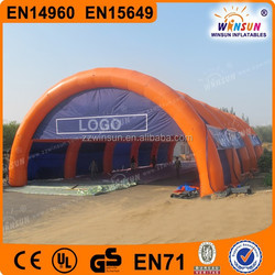 EN15469 CE super giant 30meters long arched roof inflatable tunnel tent