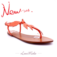 2016 Latest New design fashion high-end quality flat lady woman sandal for summer