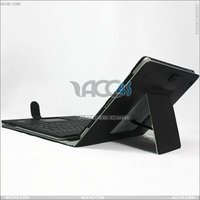 ACC4S Wireless Bluetooth Keyboard with solar panels Leather Case for iPad 2 P-IPAD2CASE100