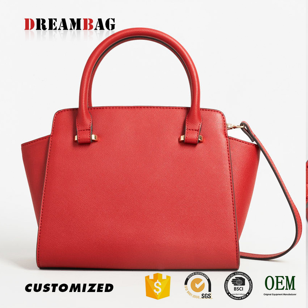 Guangzhou OEM cheap lichi grain pvc retail handbag