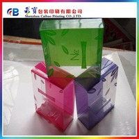 China Shenzhen pvc clear plastic packaging box factory supply