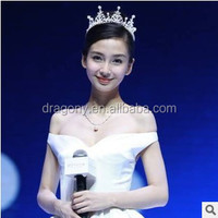 Star angelababy pearl diamond alloy tire hair accessories bridal crown