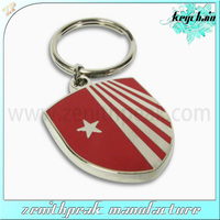 customized oval metal keychain for promotion with double ring