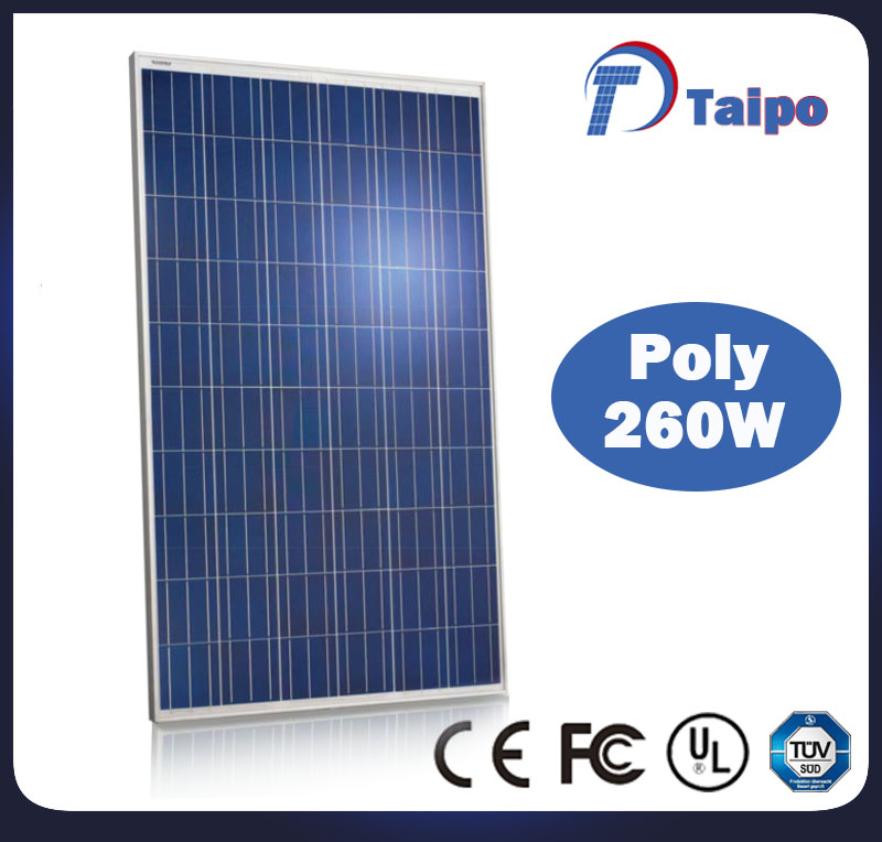 Best quality poly 260w solar panel price 1kw in india