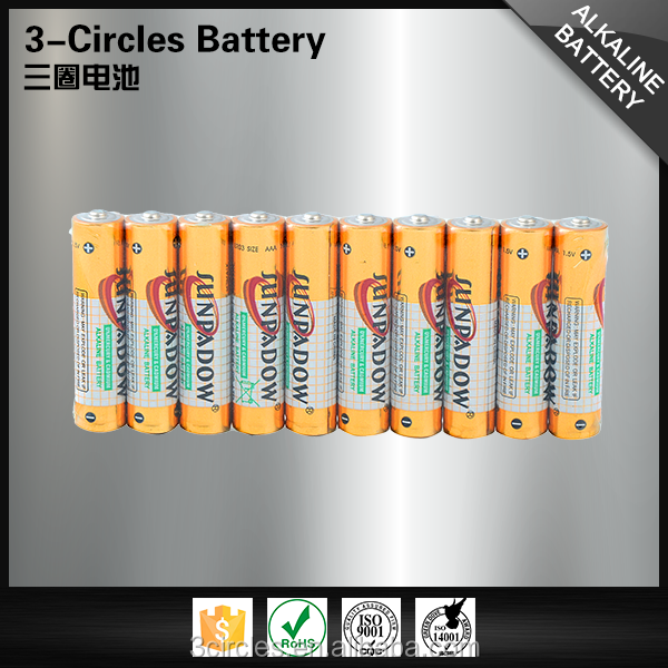 Eco-friendly alkaline 1.5v LR03 aaa size dry cell battery