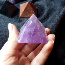 Natural amethyst quartz crystal singing pyramids ,natural purple crystal pyramid to incur wealth