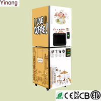 Automatically espresso coffee vending machine with best price from Yinong manufacturer