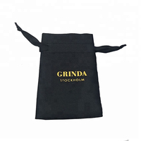 Custom Printed Satin Drawstring Eyelash Extension Tweezers Pouch Russian Volume Extension Bags Wholesale