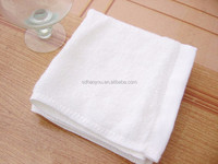 China Manufacturer New Design Square White Cotton Towel for baby & cosmetology