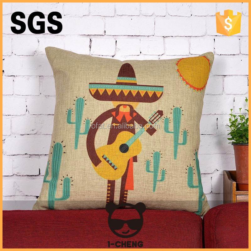 wholesale high quality digital printed custom design cushion cover