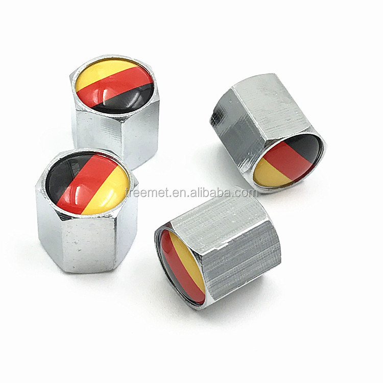 Good Quality cooper metal Car Logo Tire Valve Caps
