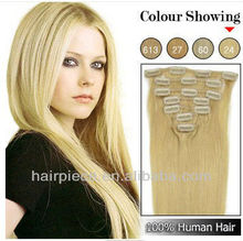 10inch-30inch silky straight clip in hair extensions, indian remy hair, clip in hair