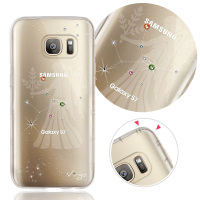 For Samsung S7 Virgo Crystal zodiac crashworthiness phone case