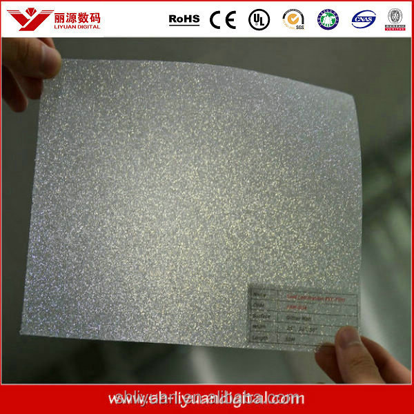 Popular Decorative PVC Glitter Spark Window Film With PET-Liner