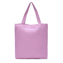 Custom Logo Promotional Shopping Bag Blank 12 oz Pink Canvas Cloth Tote Bag