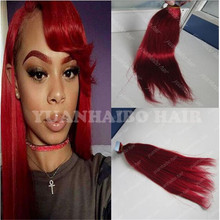2016 Hot Selling 8a grade #red color Virgin Peruvian Hair Skin Weft Human Hair 40pcs/pack,300g/lot Double Tape Hair Extension