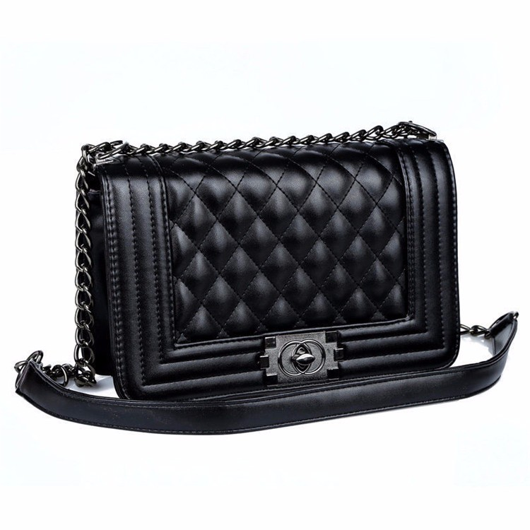 New Classy Women Quilted PU Leather Chain Lady Shoulder Bag