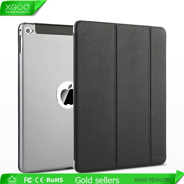 leather case for iPad air 2 smart cover, for luxury iPad 6 case