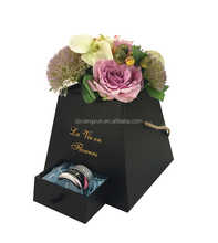 High end preserved fresh flower gift box 2016 luxury rose deliveryPyramid small packaging gift box