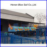 Amusement Park Rides Mini Roller Coaster Slide Dragon Train for Sale