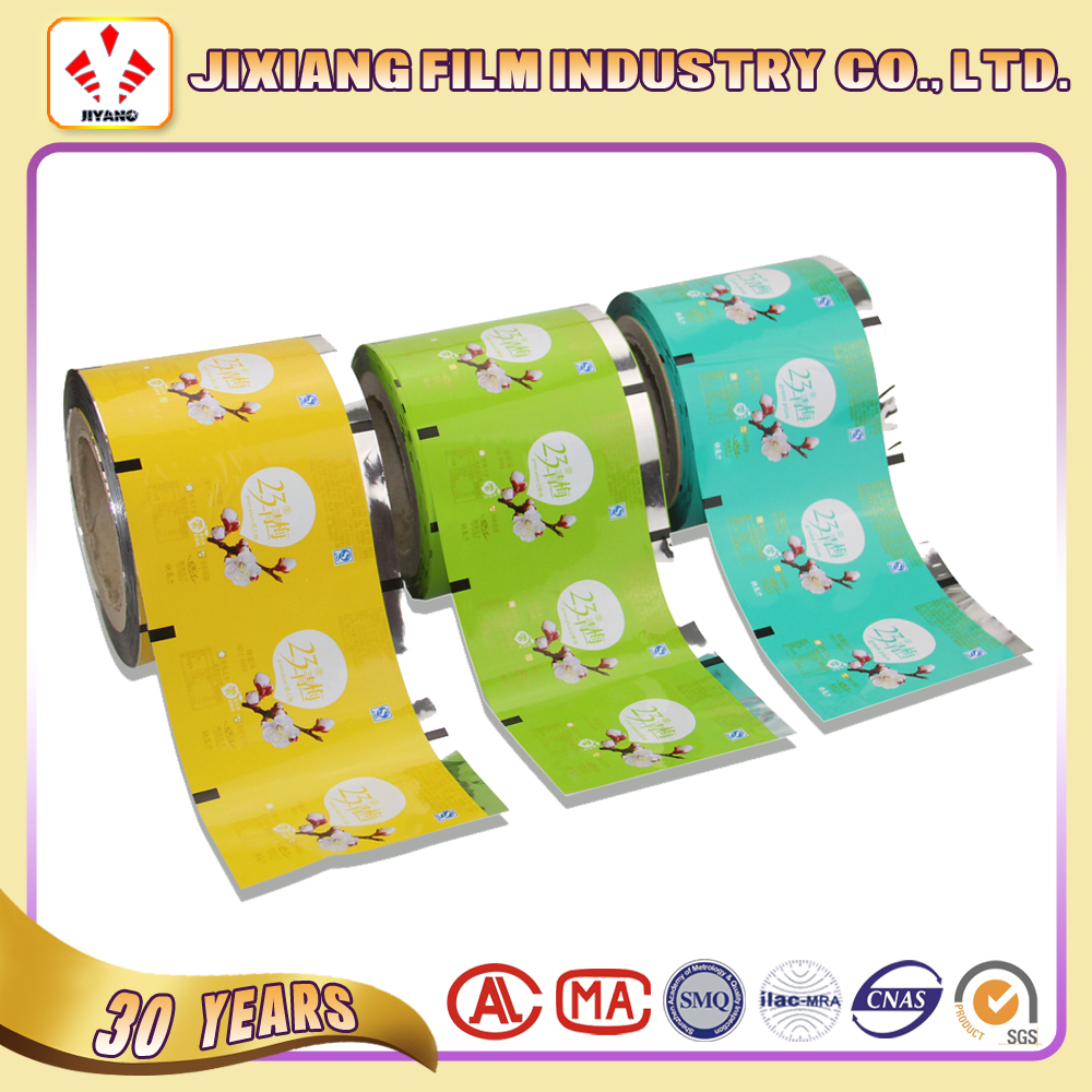 Customized PET alumium foil laminated food packaging plastic roll film