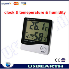 Big screen display Digital Alarm Clock, Household indoor high-precision electronic thermometer & hygrometer