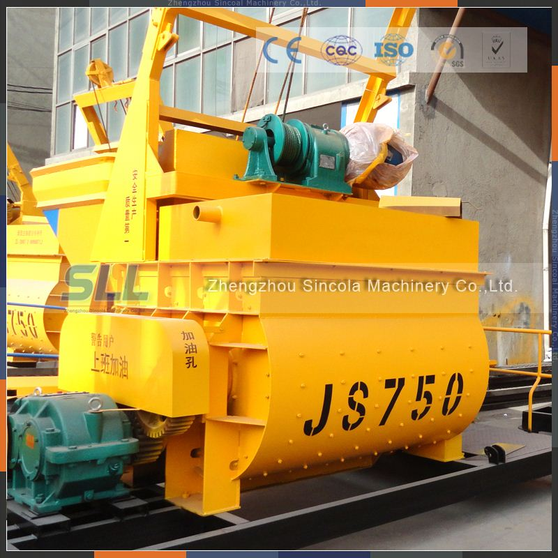 High quality JS 1000 Concrete Mixer as building site recycling machine.