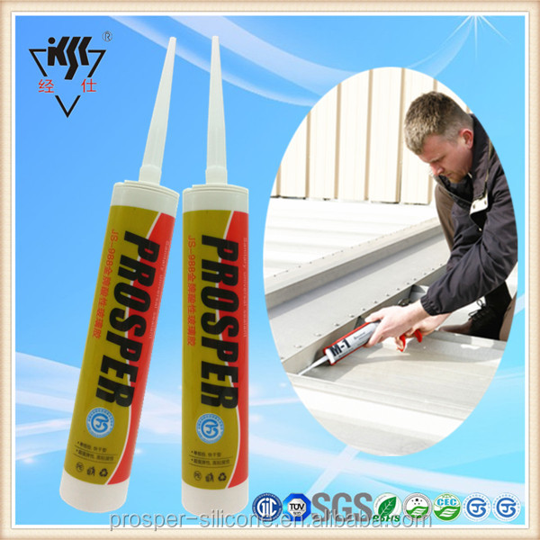 Oil resistance clear general purpose acetic silicone sealant