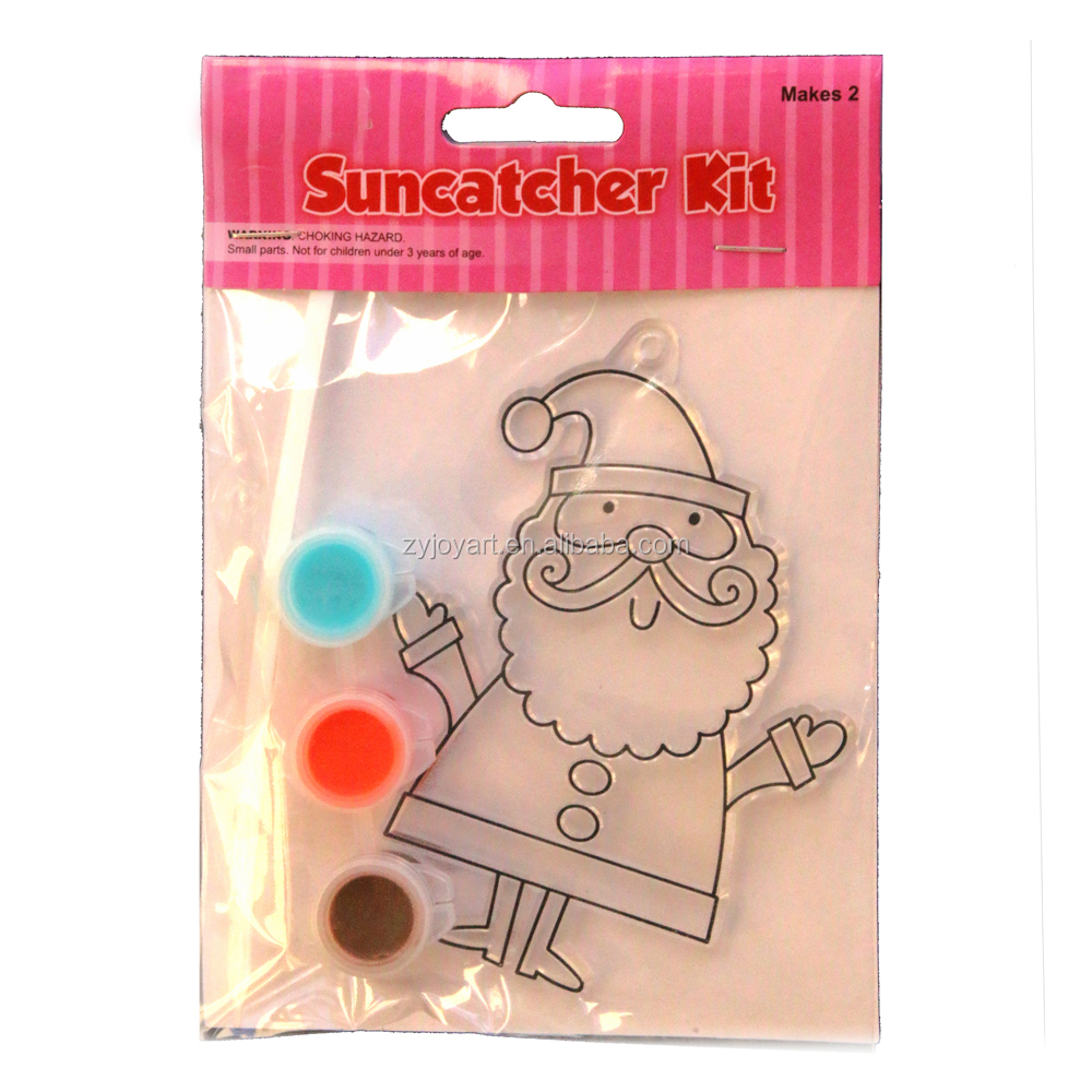 Wholesale Suncatchers Kids DIY Painting Art Set With Sun Catchers 10*10CM