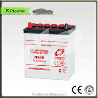 12V lead acid car battery dry charged battery NS40
