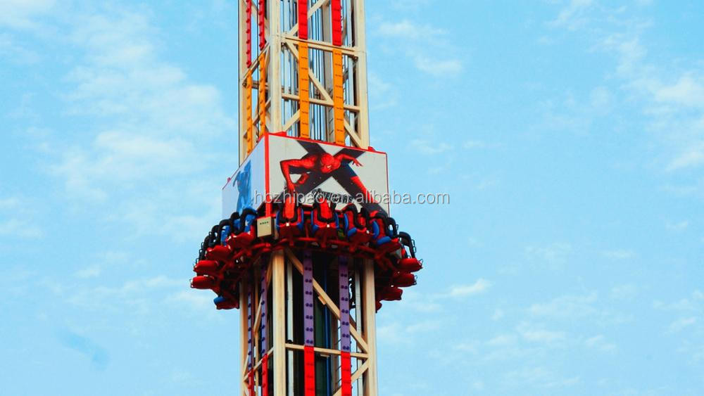 china manufacturer popular large thrilling amusement fairground theme park ride sky tower free fall ride for sale