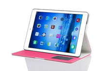 Wholesale Protective Flip Cover Stand Inner PC+Leather Case for iPad Air 2 With Credit Card Slots