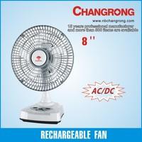 rechargeable emergency portable table fan battery operated plastic electirc fan