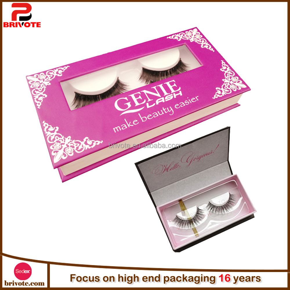 Wholesale charming custom false eyelash packaging box/eyelash box