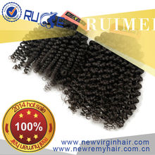 100% unprocessed human hair black bun hair pieces