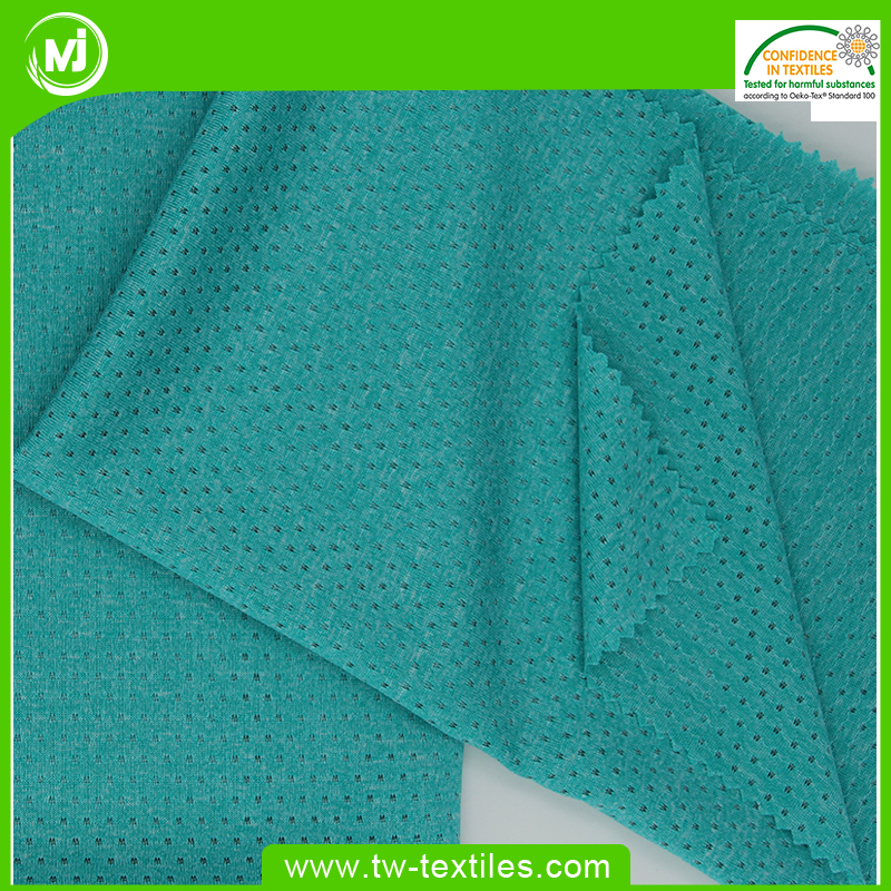 Cationic 100% Polyester Knitted Jacquard Mesh Lining fabric in Butterfly Holes