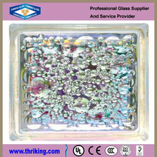colored glass brick/decorative glass block for curtain wall/lightweighe building material
