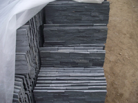 natural black slate stone wall cladding