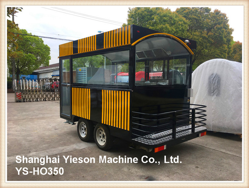 YS-HO350 mobile kiosk mobile pizza food car with chocolate kebab machine