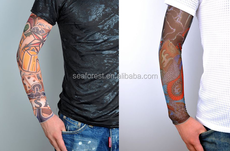 cheap wholesale decorative nylon seamless arm tattoo sleeves