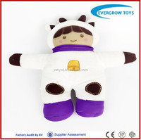 2016 hot plush cow clothes lovely mini doll